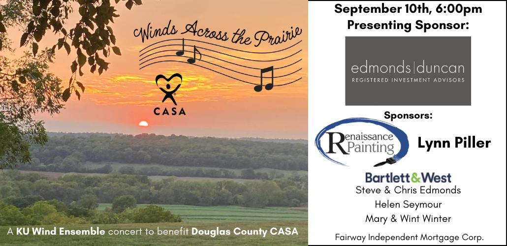 Winds Across the Prairie - a KU Wind Ensemble concert to benefit CASA