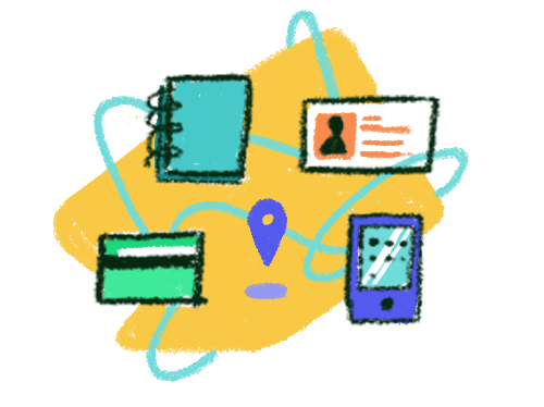 Illustration of various forms of personal data
