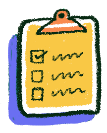a notepad with a checklist