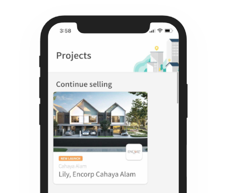 Didian App showcasing the main screen with projects for agents to choose from