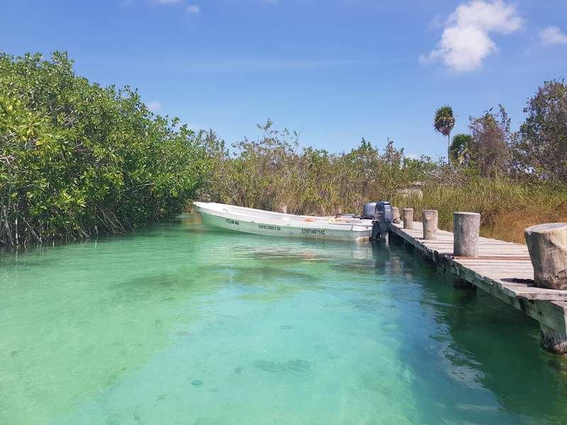Départ pour la balade flottante à Sian Ka an au Mexique