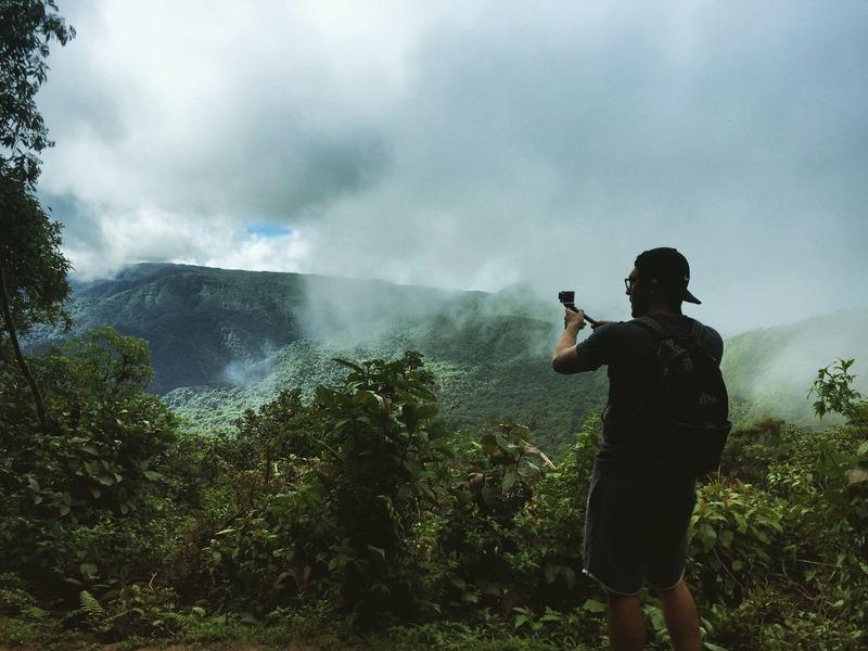 Vue sur le Clourd Forest monteverde costa rica que faire
