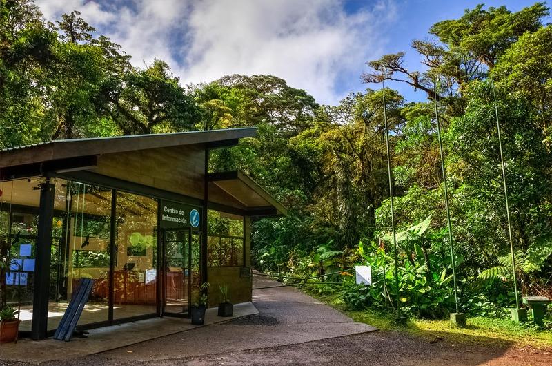 L'entrée de la réserve naturelle de Santa Elena à Monterverde Costa Rica que faire