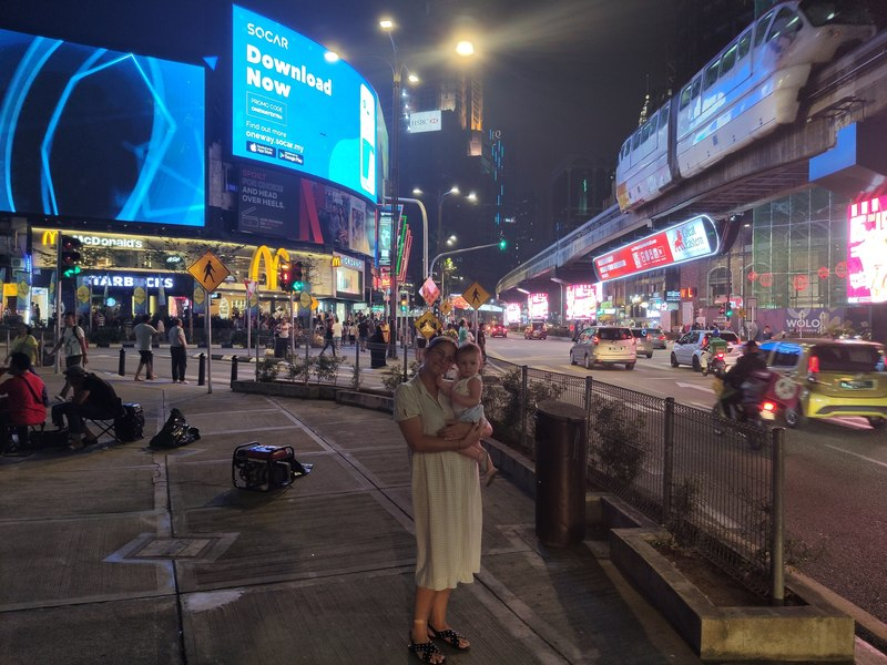 Bukit Bintang de nuit à Kuala Lumpur recit voyage malaisie