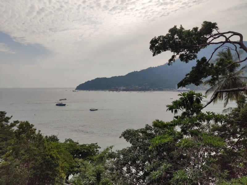 Vue sur la mer depuis notre chambre d'hôtel sur l'Ile Perhentian Besar recit voyage malaisie