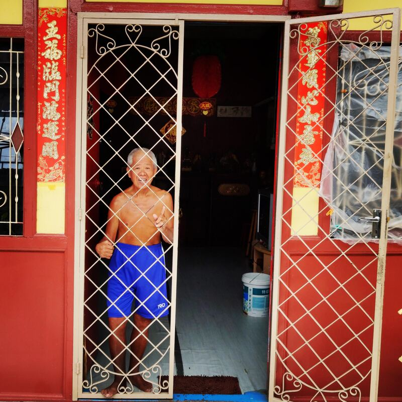 Vieil homme à Penang recit voyage malaisie