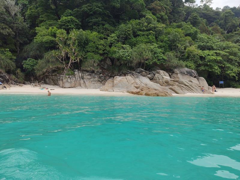 La plage de Turtles Beach sur l'Île Perhentian Besar recit voyage malaisie