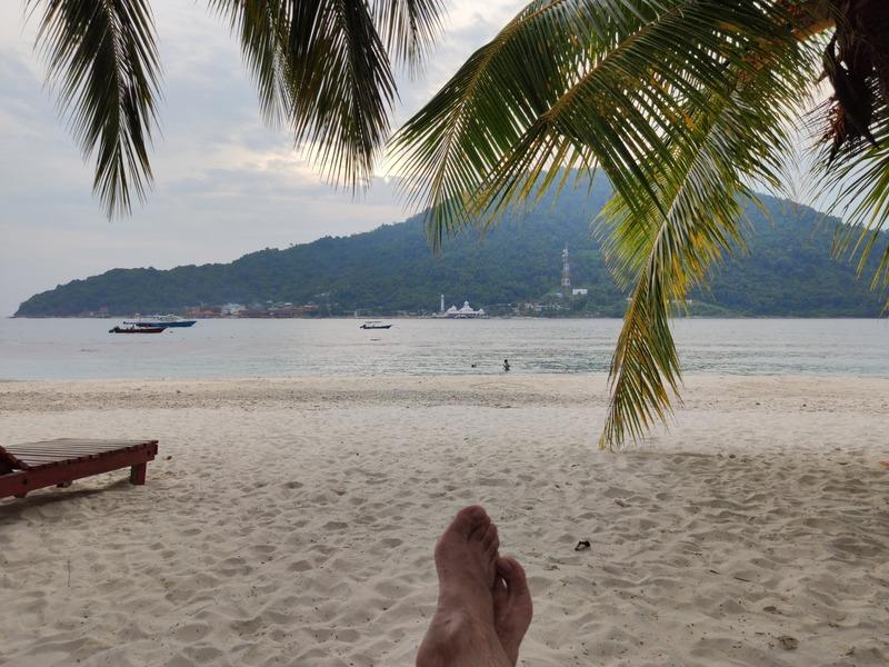 Plage de notre hôtel sur l'Île Perhentian Besar malaisie conseils aux voyageurs