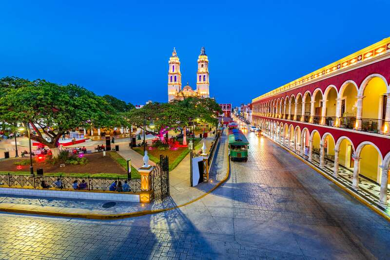 Place de l'indépendance à Campeche au Mexique