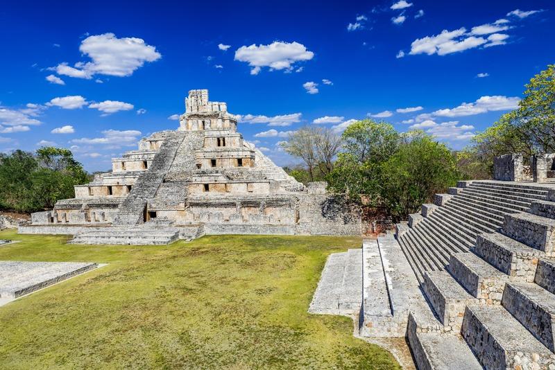 Pyramide Edzna à Campeche au Mexique