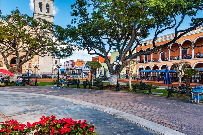 Place Campeche au Mexique