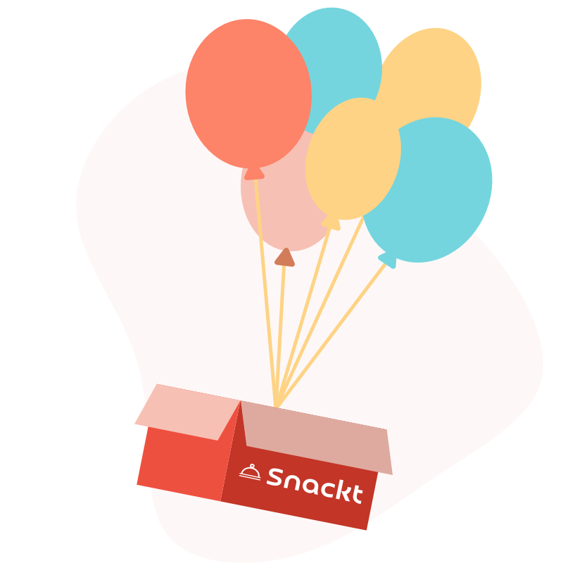 Snackt box with balloons