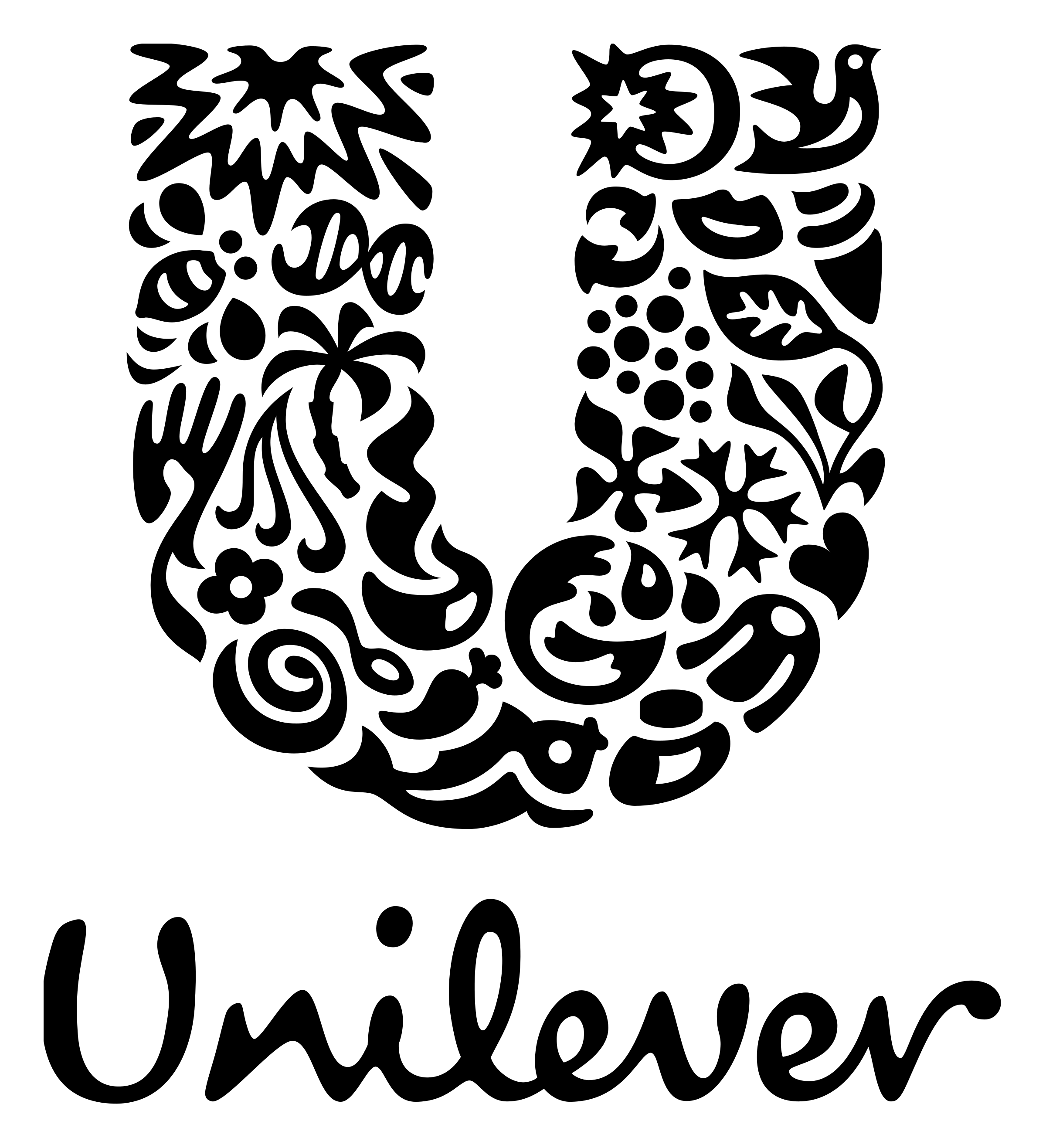 Unilever logo with a large decorative U at the top