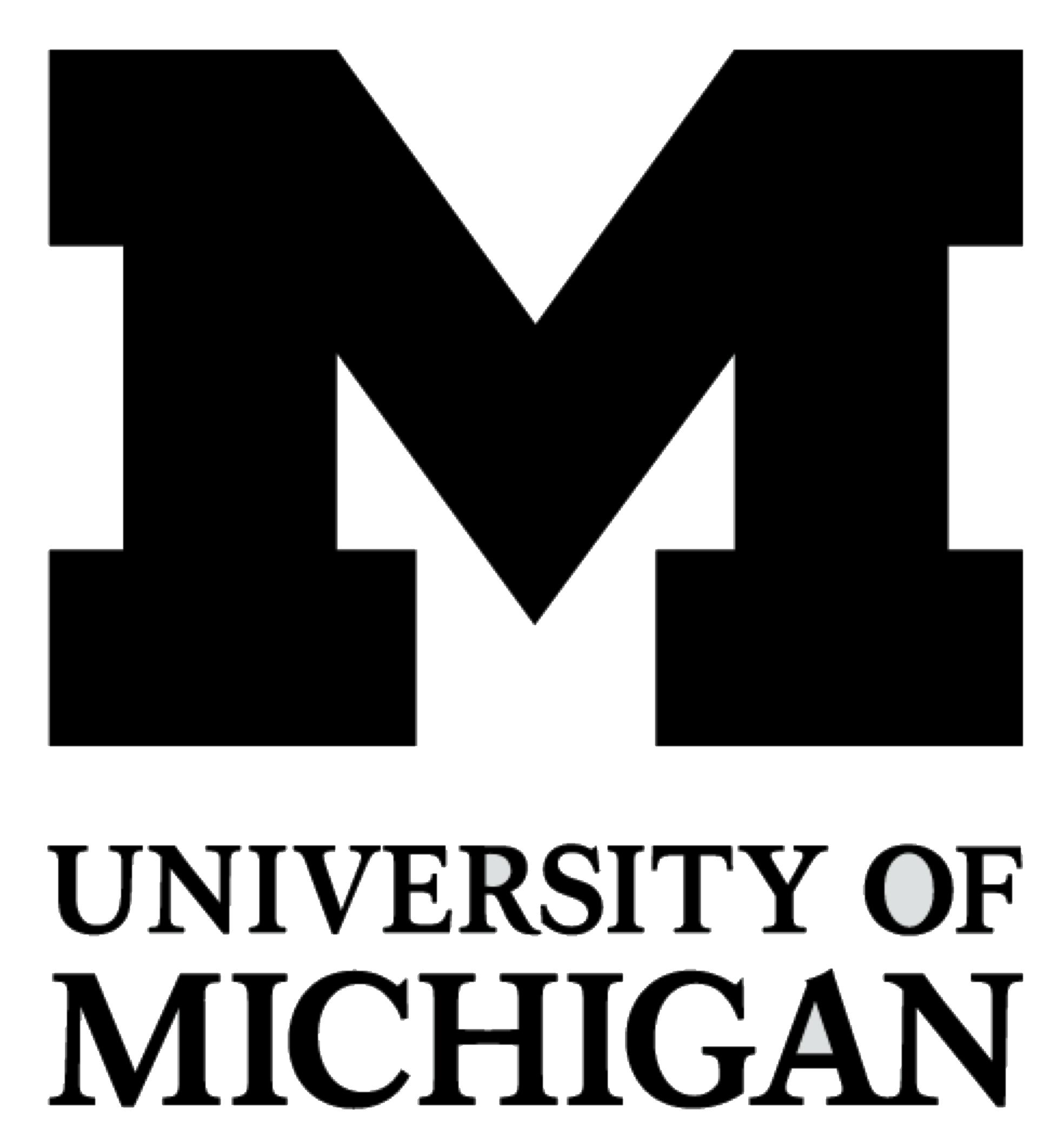 Block M and University of Michigan logo