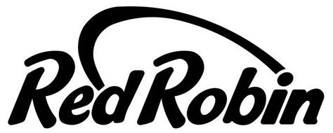 Red Robin brand logo with an arc from the e to the i.