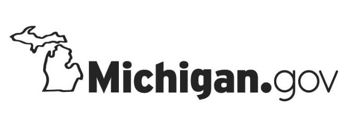 Michigan.gov logo with an outline of the state of Michigan on the left.