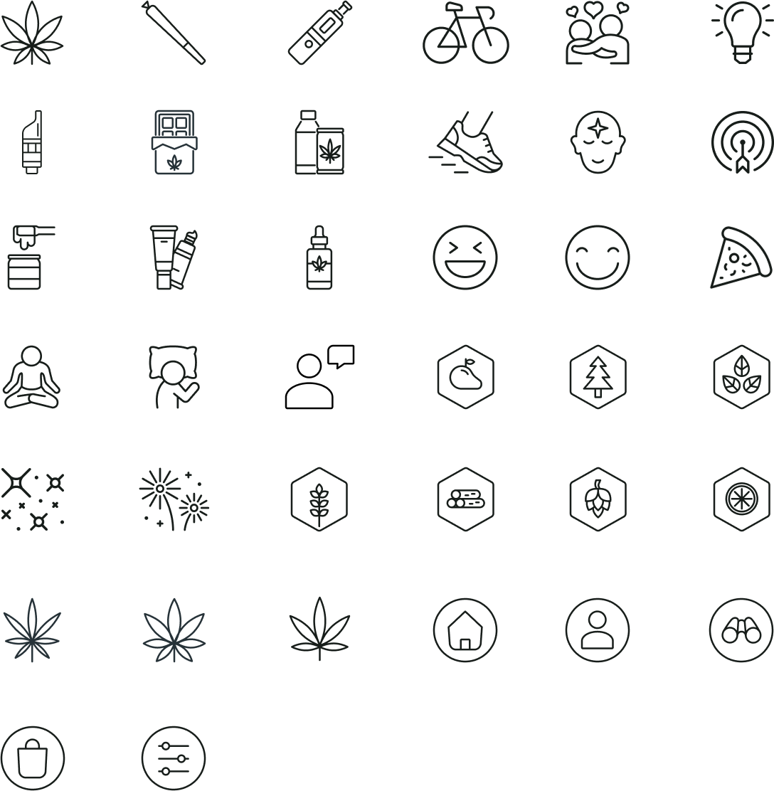 Icons used in the app