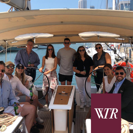 women in tenant representation event on a boat