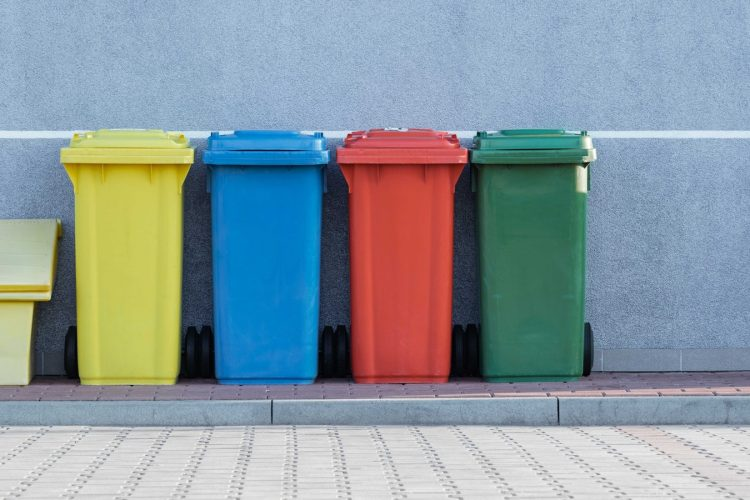 Image of green bins | Sustainable office article