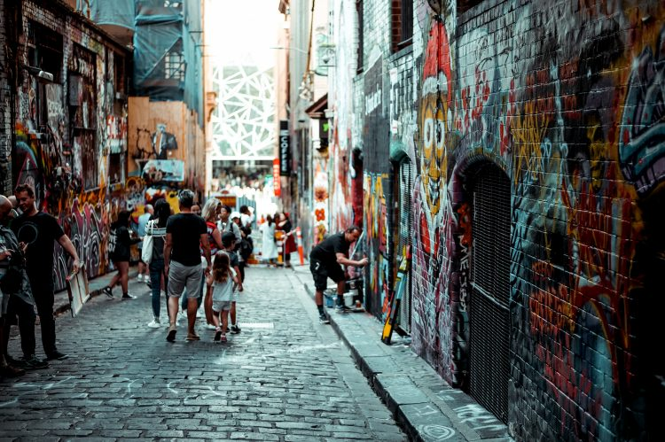 Image of one of Melbourne's famous laneways | Melbourne stock watch article