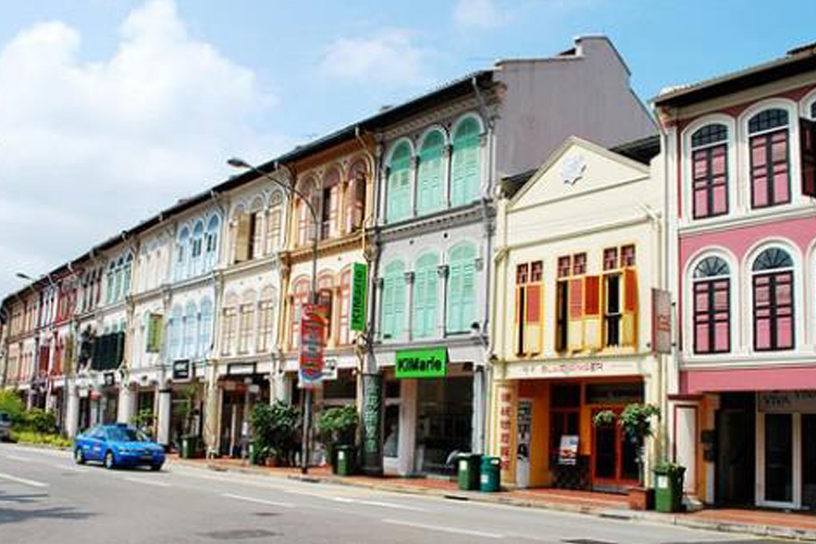 Image of shophouses lined up in Singapore | Singapore office types article