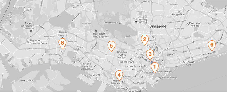 Image of the seven locations you'll find Singapore office space | Singapore office types article
