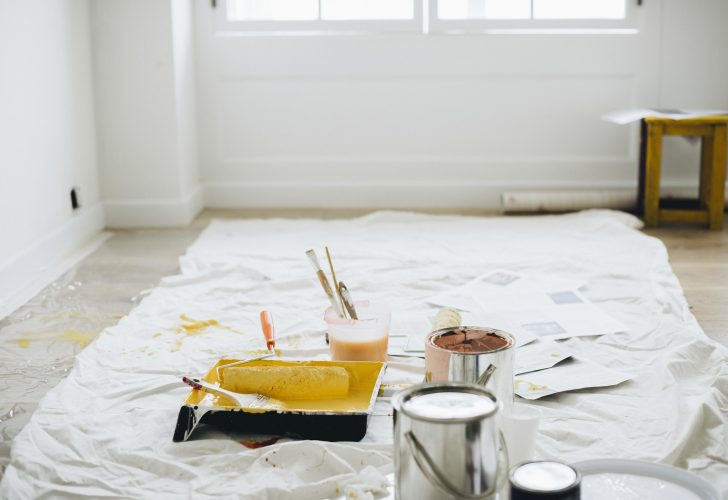 Set-up for painting a new office   Office relocation costs article