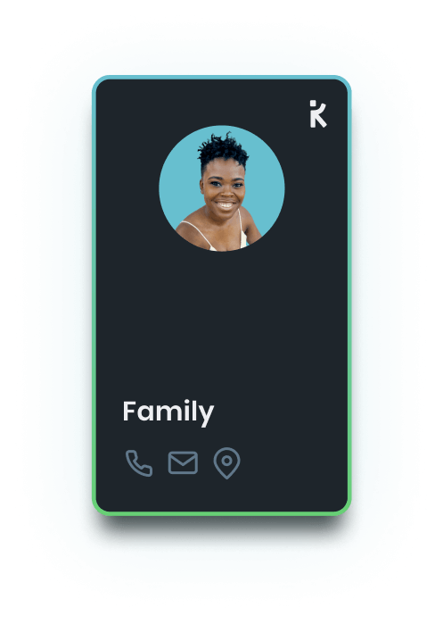 a k-card for family