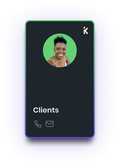 a k-card for clients