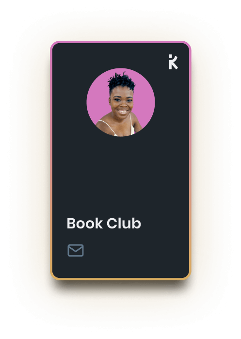 a k-card for the book club