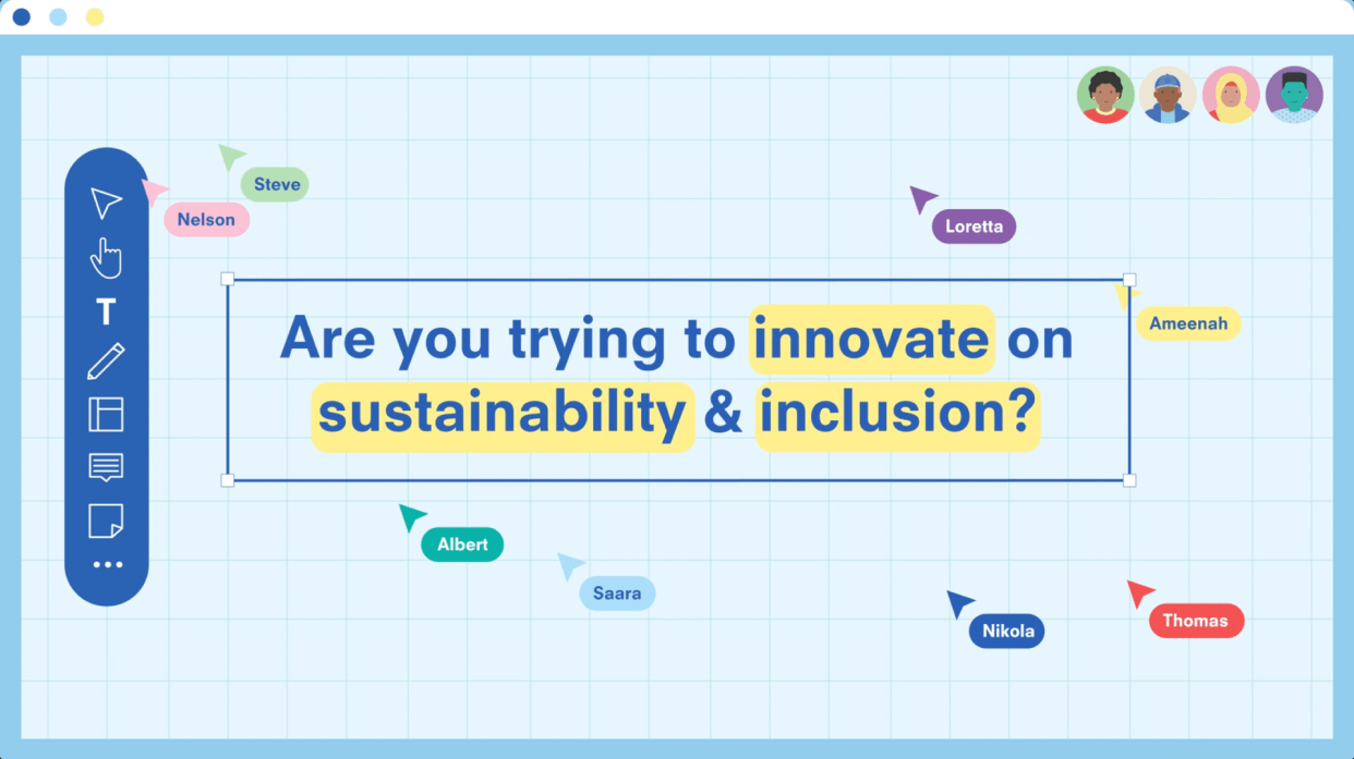 Thumbnail animation video innovate on sustainability and inclusion