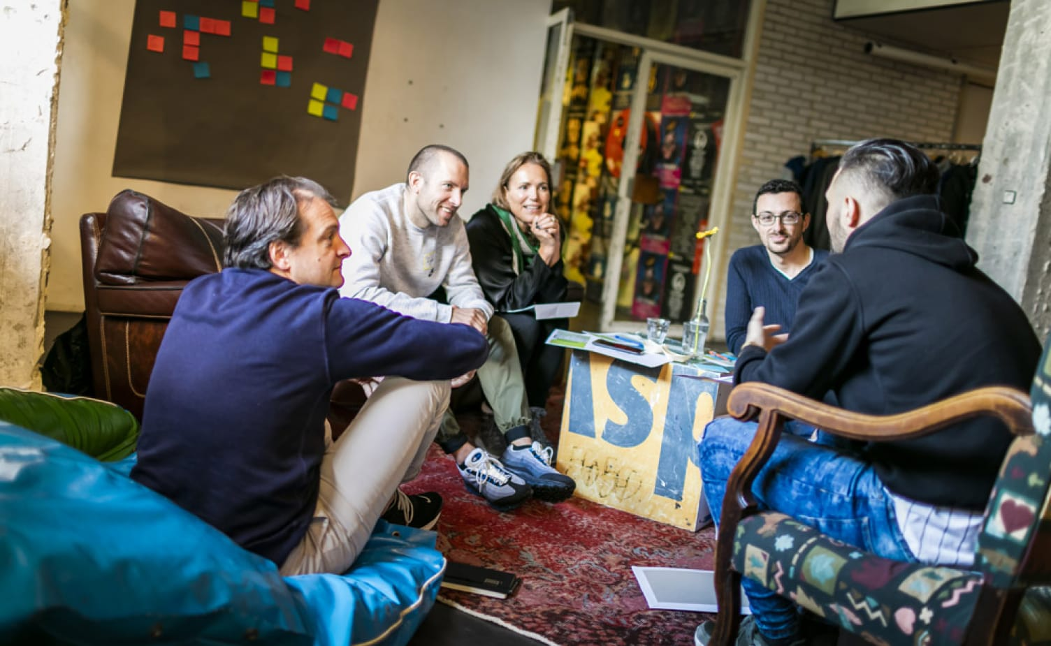 Image of a group sharing ideas during workshop