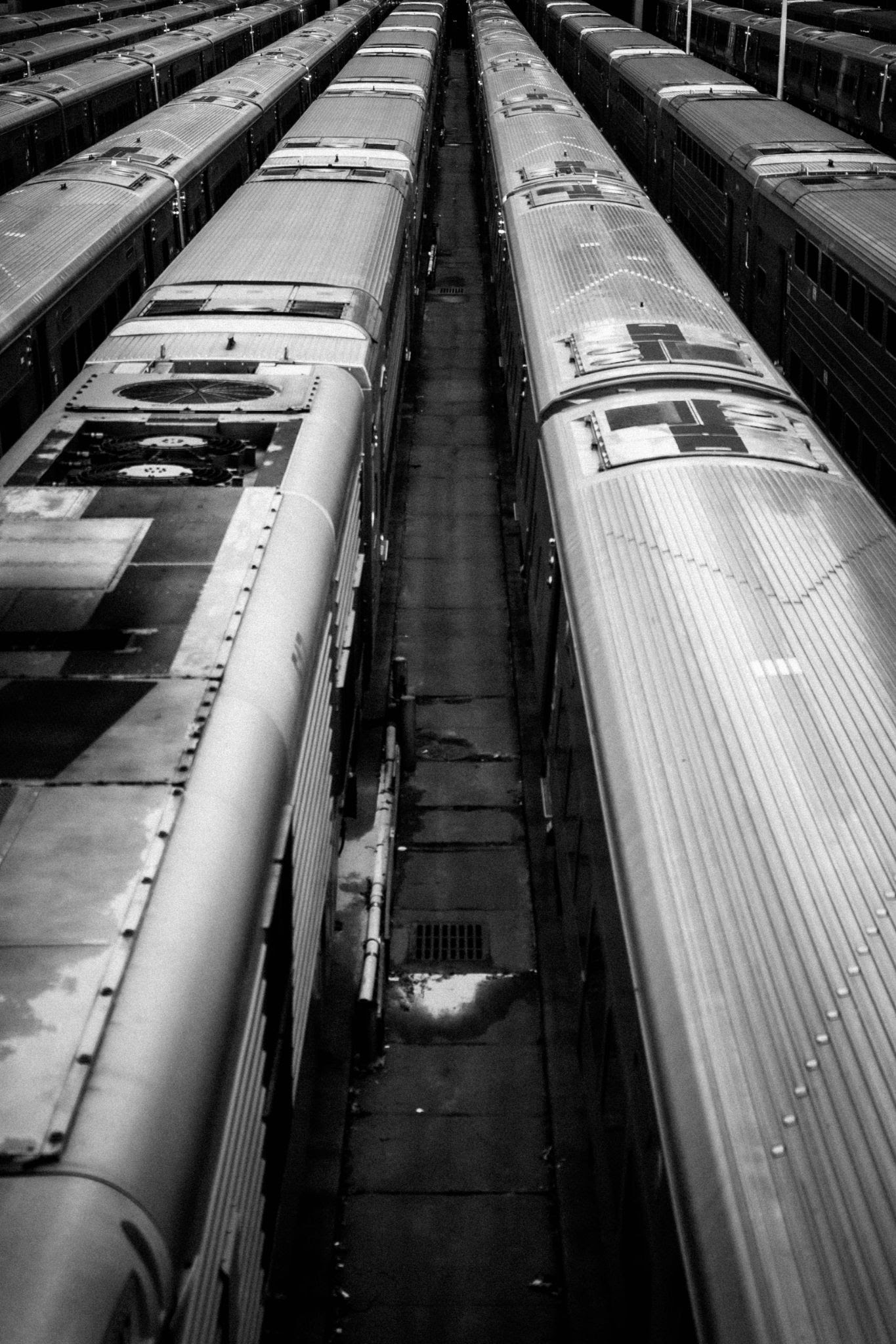 roofs of train