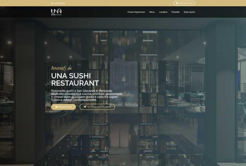 Una sushi restaurant website