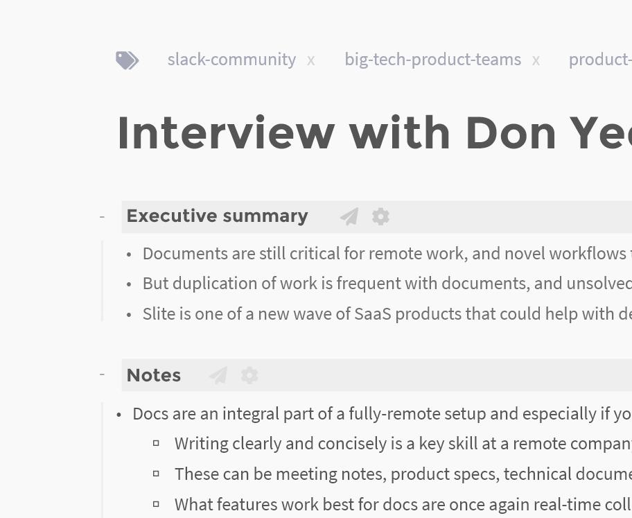 Screenshot of executive summary