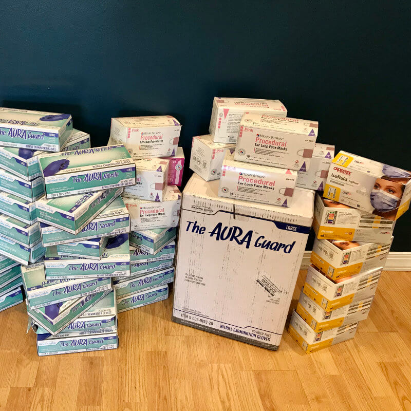 Pinnacle Dental donated PPE to front line workers in need