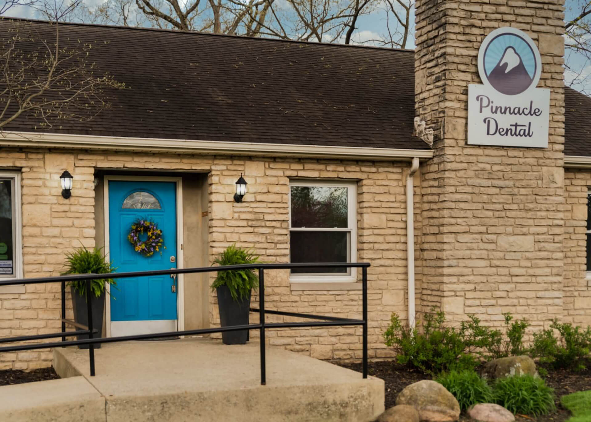 Look for the blue door at our dental office in Grove City, Ohio