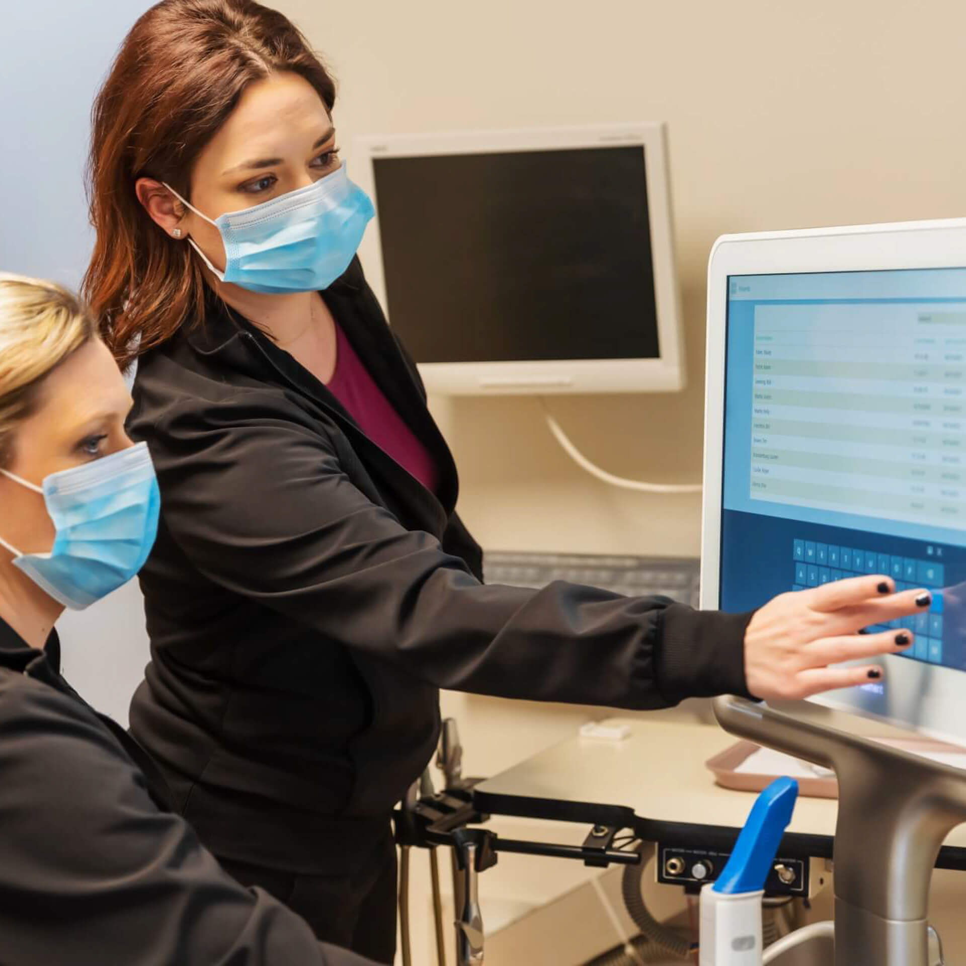 Showcasing the iTero scanner which allows us to take 3D scans of your mouth