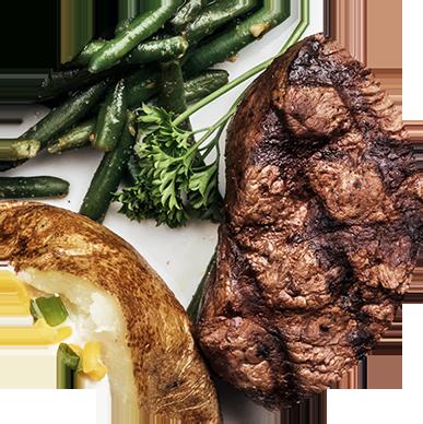 Ellis Island Casino $7.99 Steak Special plate at the Village Pub & Cafe