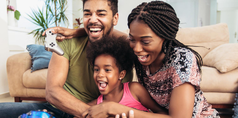 Family at play