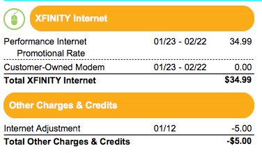 New Customer Rate Comcast