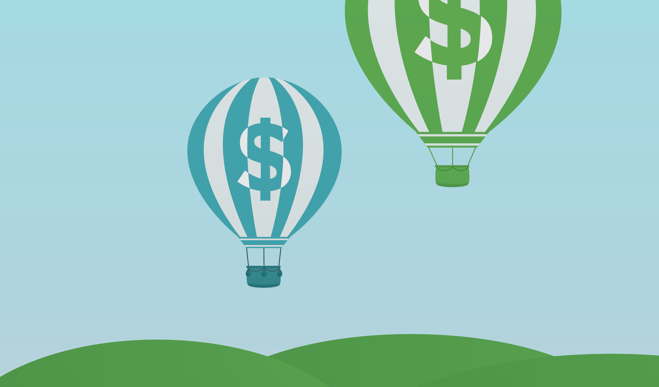 Hot air balloons, representing cost inflation on cable bills
