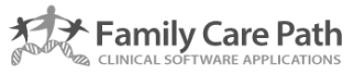 the logo for family care path