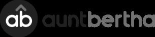 the logo for aunt bertha