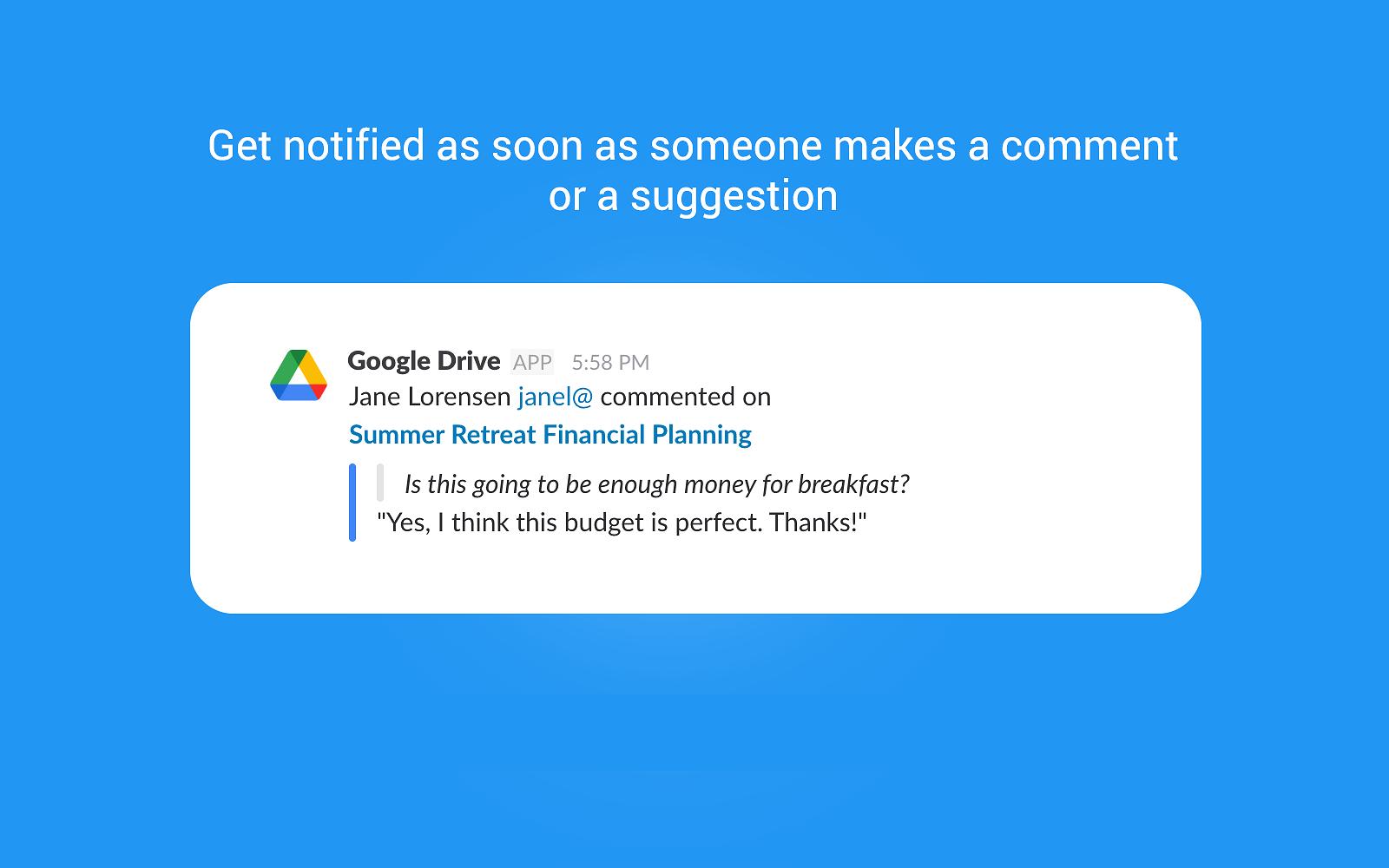 Google Drive Slack app