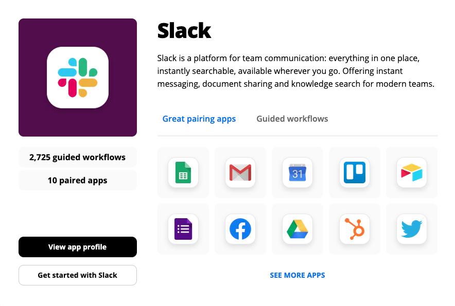 Best Apps for Slack: Zapier