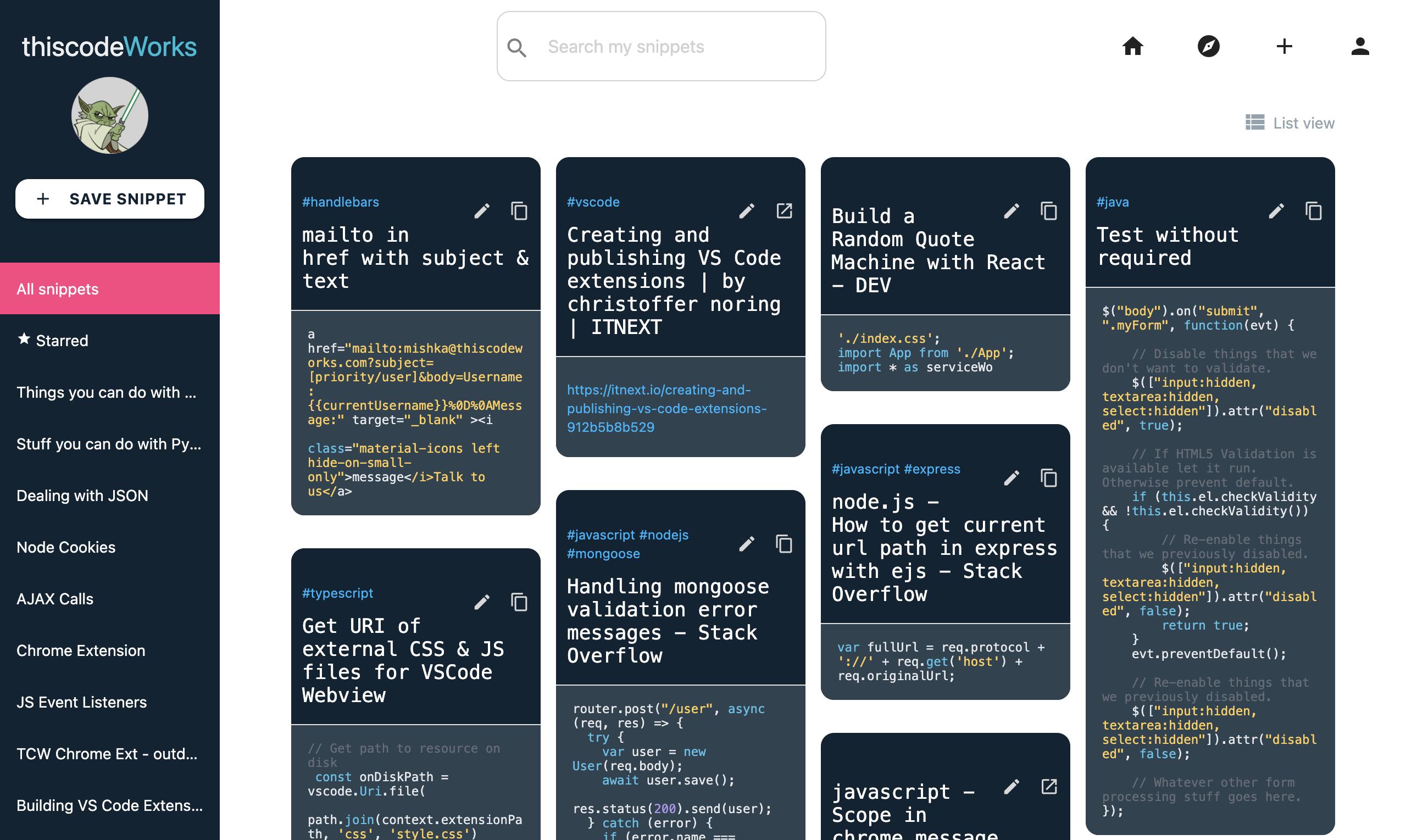 Mishka Taskable User Spotlight: thiscodeworks dashboard