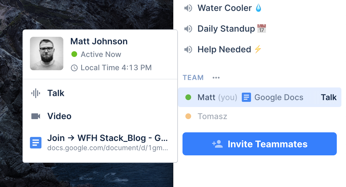 Tandem is an office for remote work