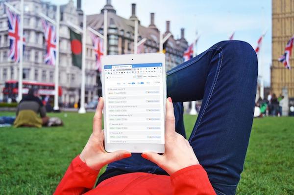 Self care checklist in the park