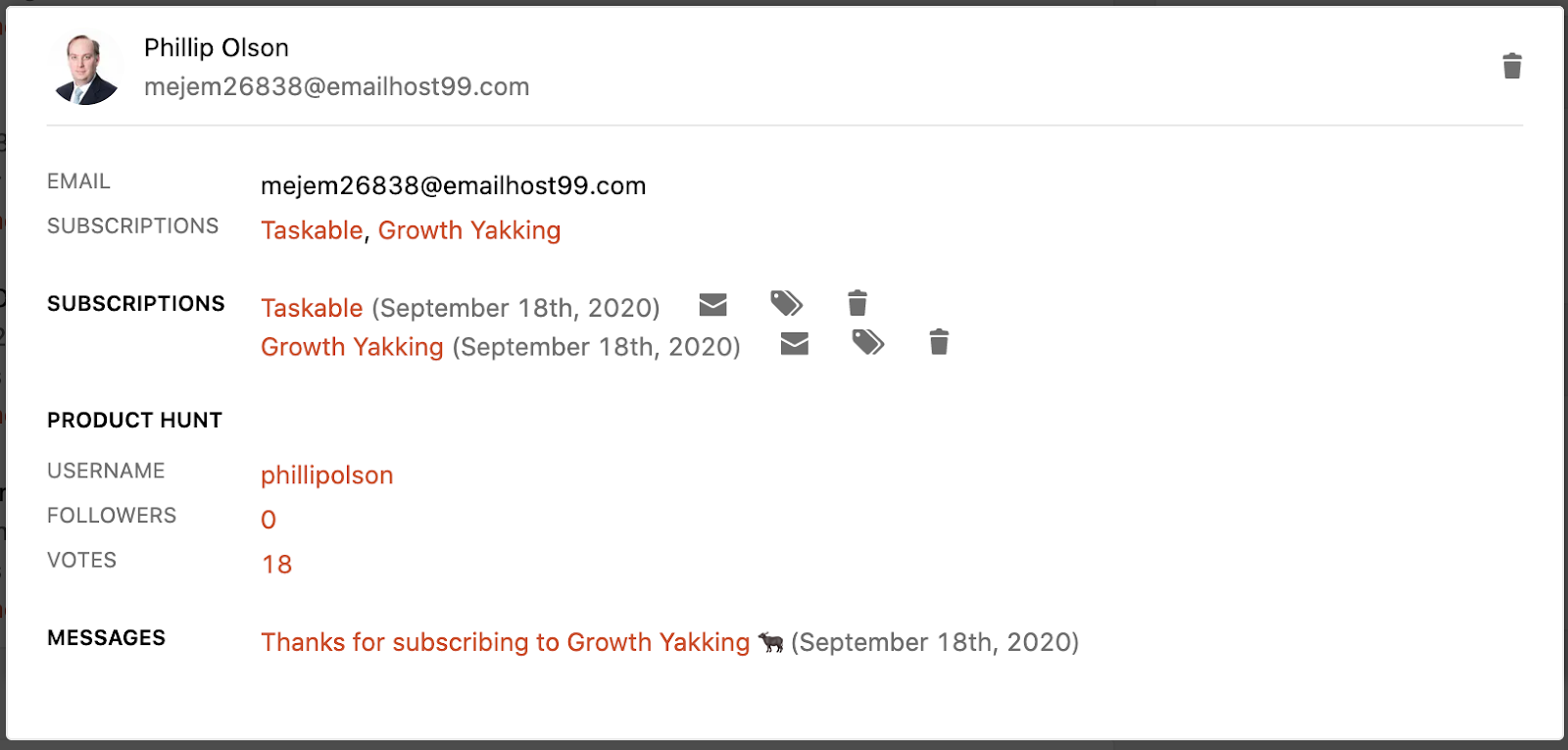 Product Hunt Ship subscribers are often spammy